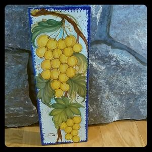 Ceramic grape vine wall art